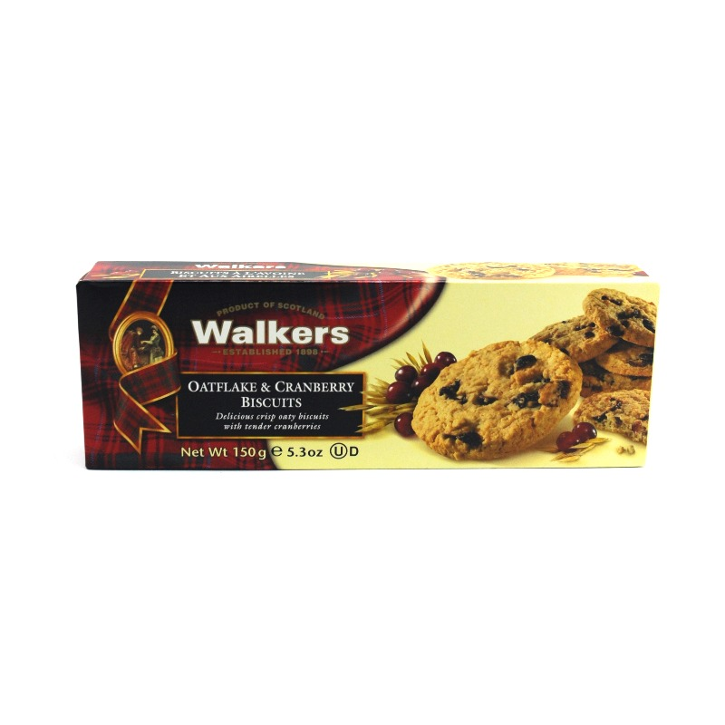 WALKERS-OATFLAKE & CRANBERRY COOKIES