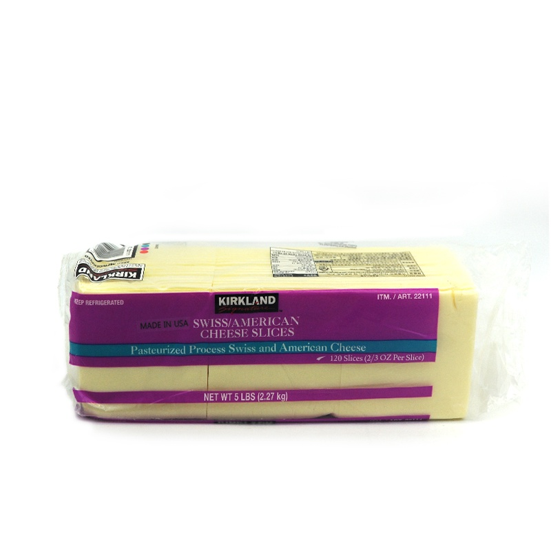 KIRKLAND-SWISS AMERICAN CHEESE SLICES