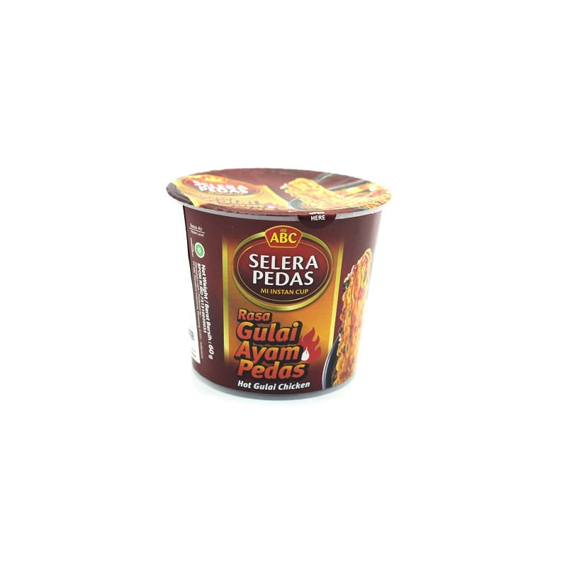 ABC-HOT GULAI CHICKEN FLAVOR CUP NOODLES(HALAL)