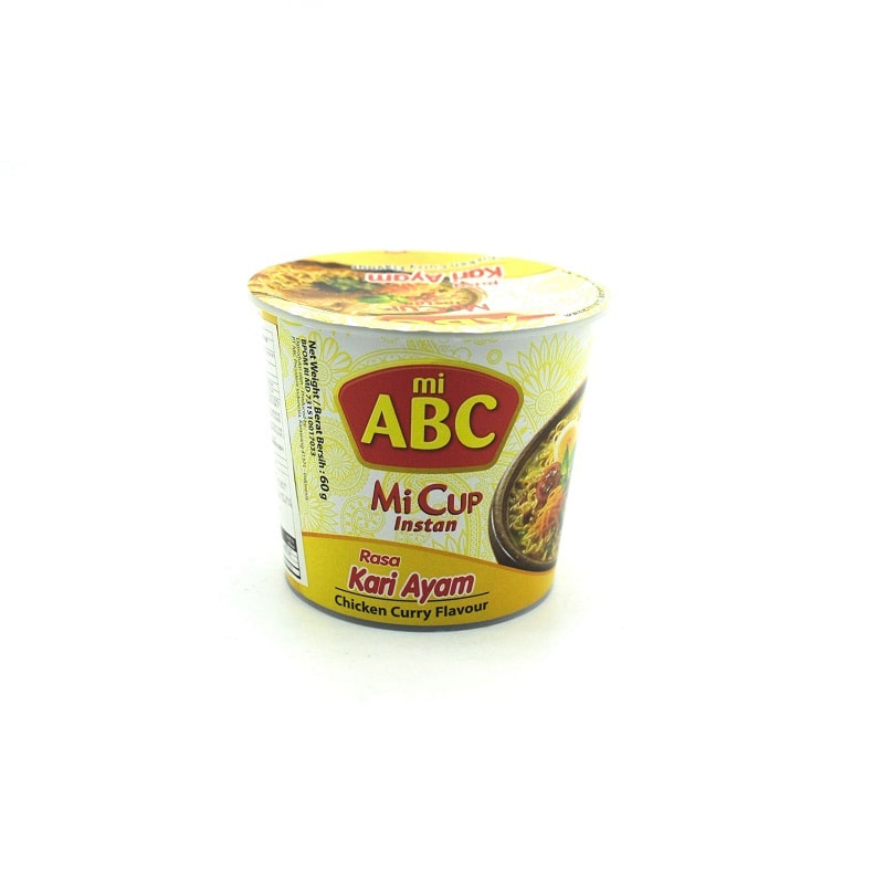 ABC-CHICKEN CURRY FLAVOR CUP NOODLES(HALAL)