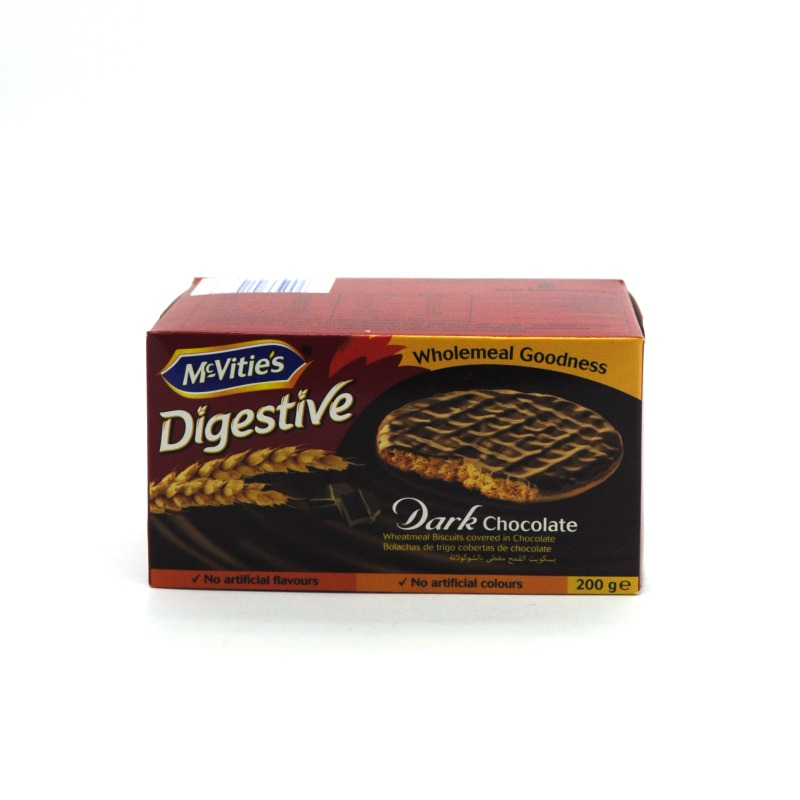 MCVITIE'S- DIGESTIVE DARK CHOCOLATE BISCUITS