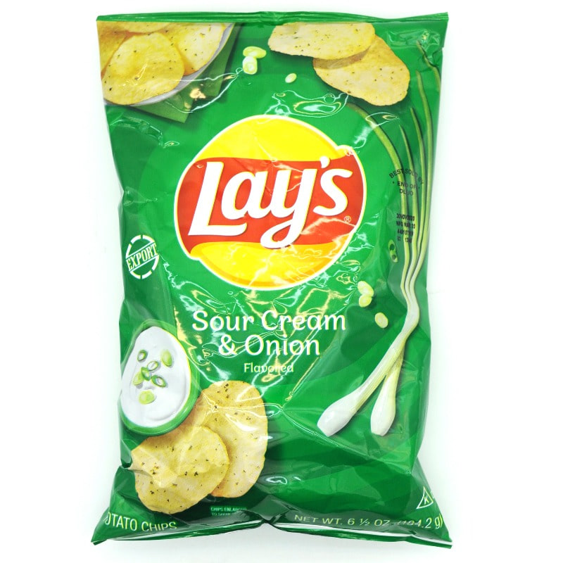 LAYS-SOUR CREAM &ONION POTATO CHIPS