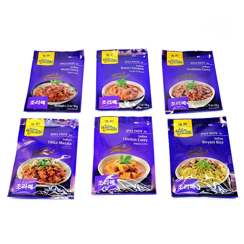 ASIAN HOME GOURMET-INDIAN  SPICE PASTE MIX (6 TYPES)