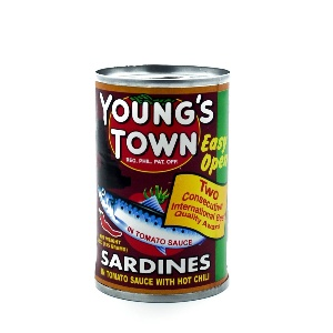 YOUNGSTOWN-SARDINES IN TOMATO WITH HOT CHILLI 155G